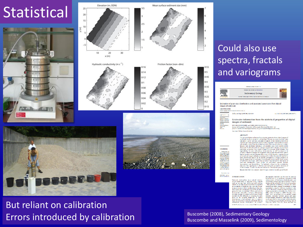 But reliant on calibration Errors introduced by...