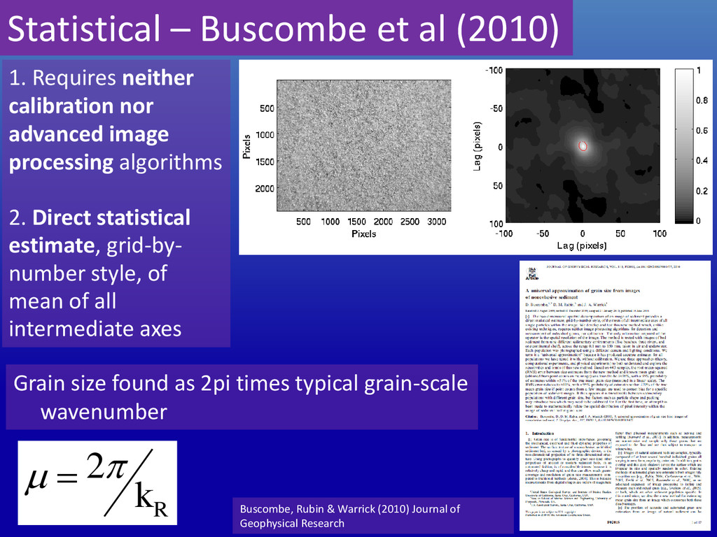 Grain size found as 2pi times typical grain-sca...
