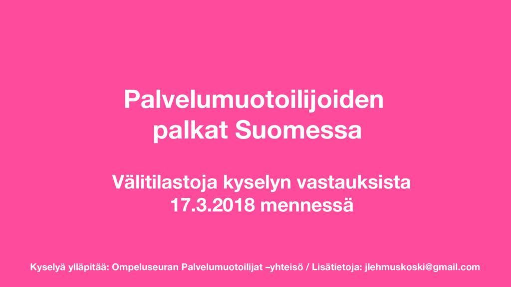 Palkat Suomessa
