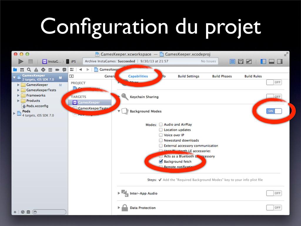 Configuration du projet