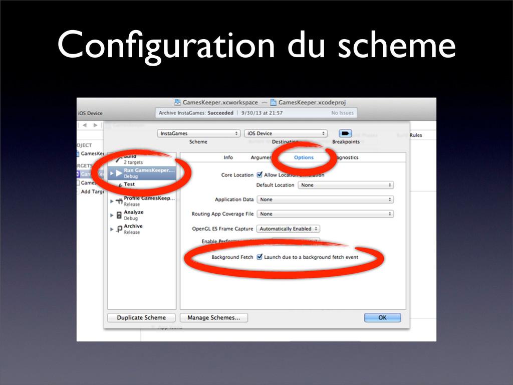 Configuration du scheme