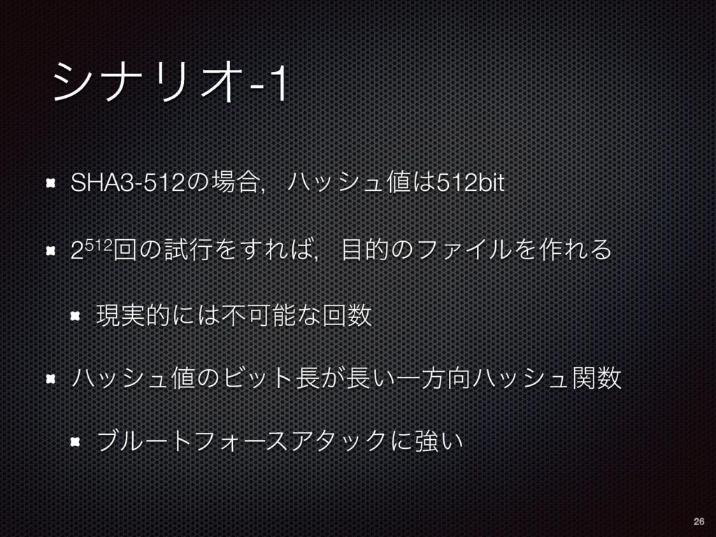 γφϦΦ-1 SHA3-512ͷ߹ɼϋογϡ512bit 2512ճͷࢼߦΛ͢Εɼత...