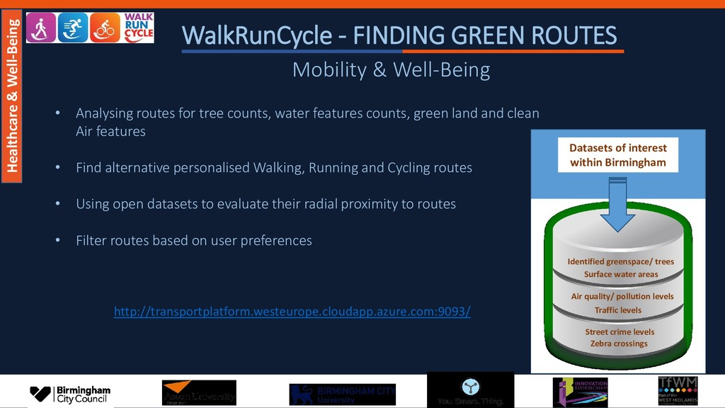WalkRunCycle - FINDING GREEN ROUTES • Analysing...