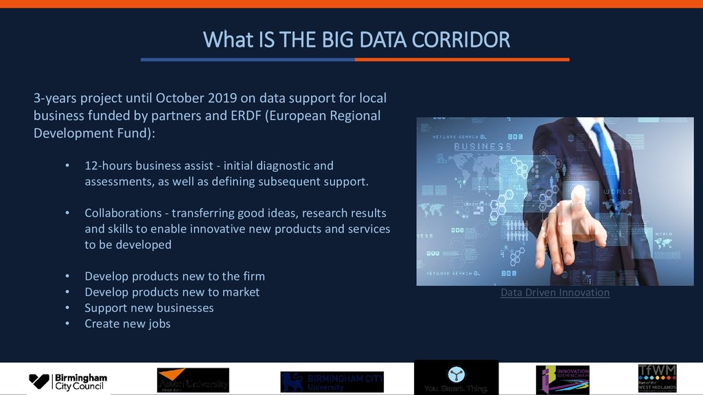 What IS THE BIG DATA CORRIDOR 3-years project u...