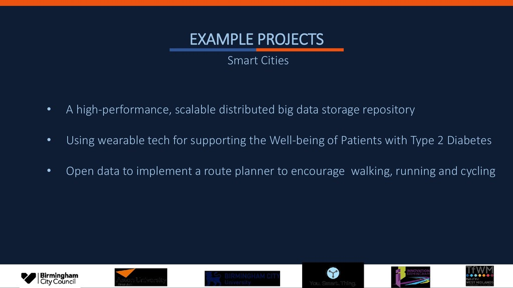 EXAMPLE PROJECTS • A high-performance, scalable...