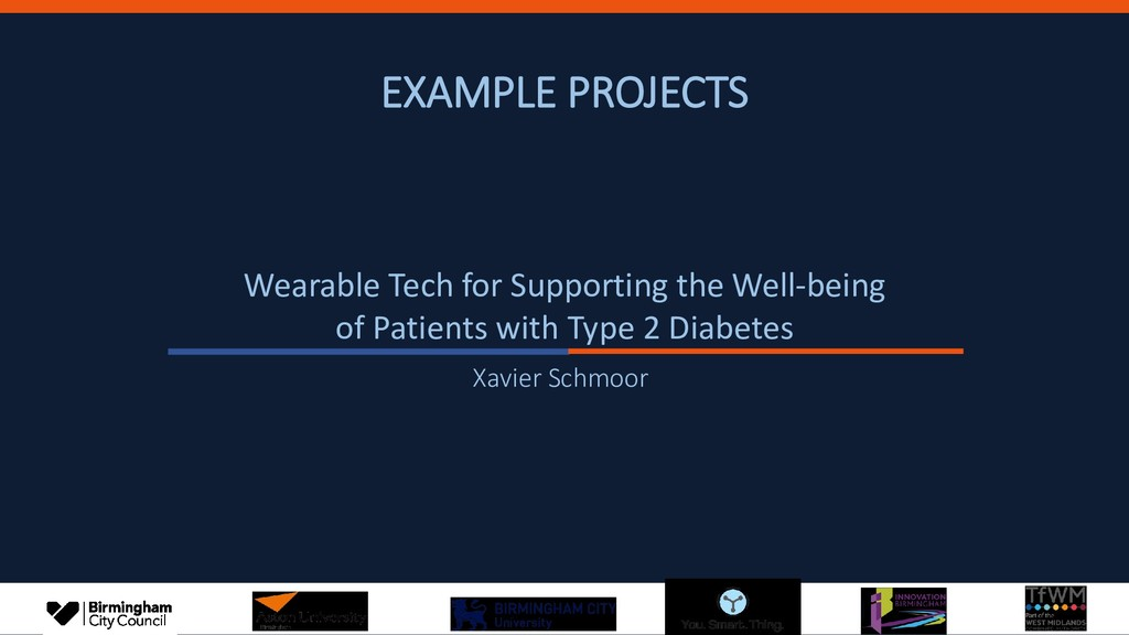 EXAMPLE PROJECTS Wearable Tech for Supporting t...