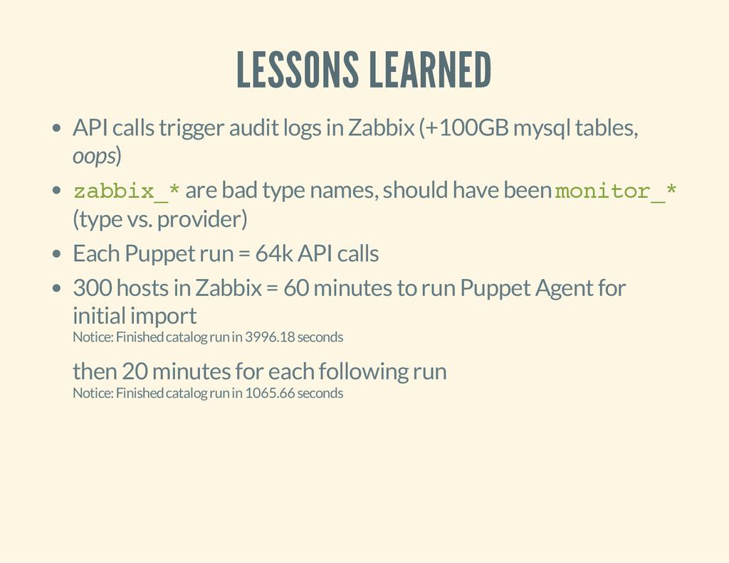 LESSONS LEARNED API calls trigger audit logs in...
