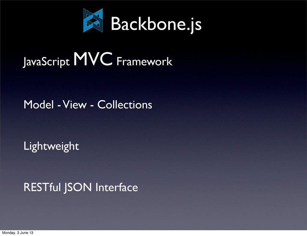 JavaScript MVC Framework Model - View - Collect...