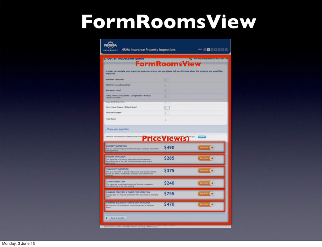 FormRoomsView FormRoomsView PriceView(s) Monday...