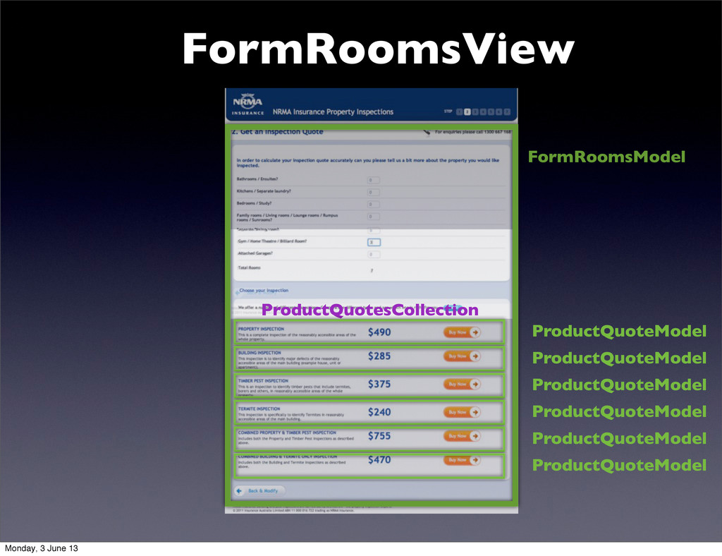 FormRoomsView FormRoomsModel ProductQuotesColle...
