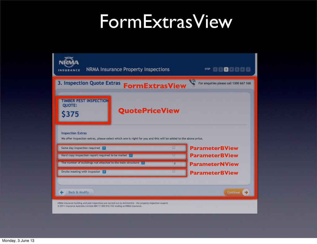 FormExtrasView FormExtrasView ParameterBView Pa...