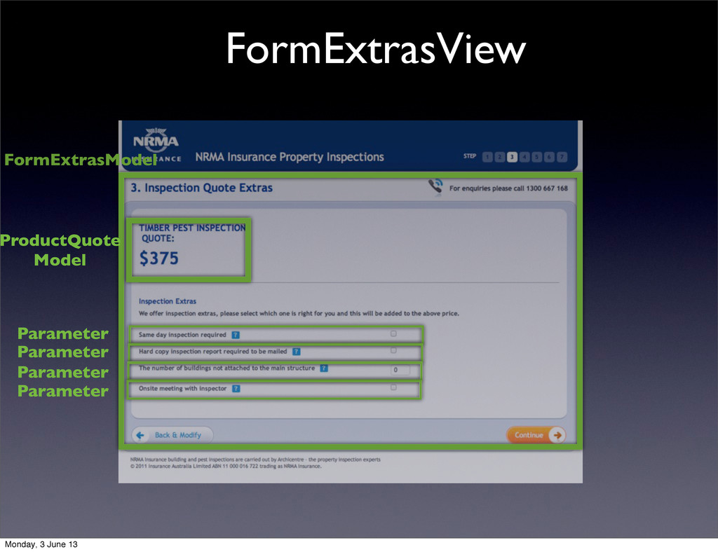 FormExtrasView FormExtrasModel ProductQuote Mod...