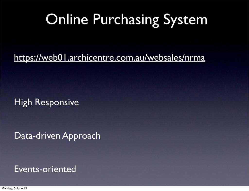 Online Purchasing System https://web01.archicen...