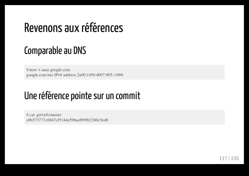 Revenons aux références Comparable au DNS $ hos...