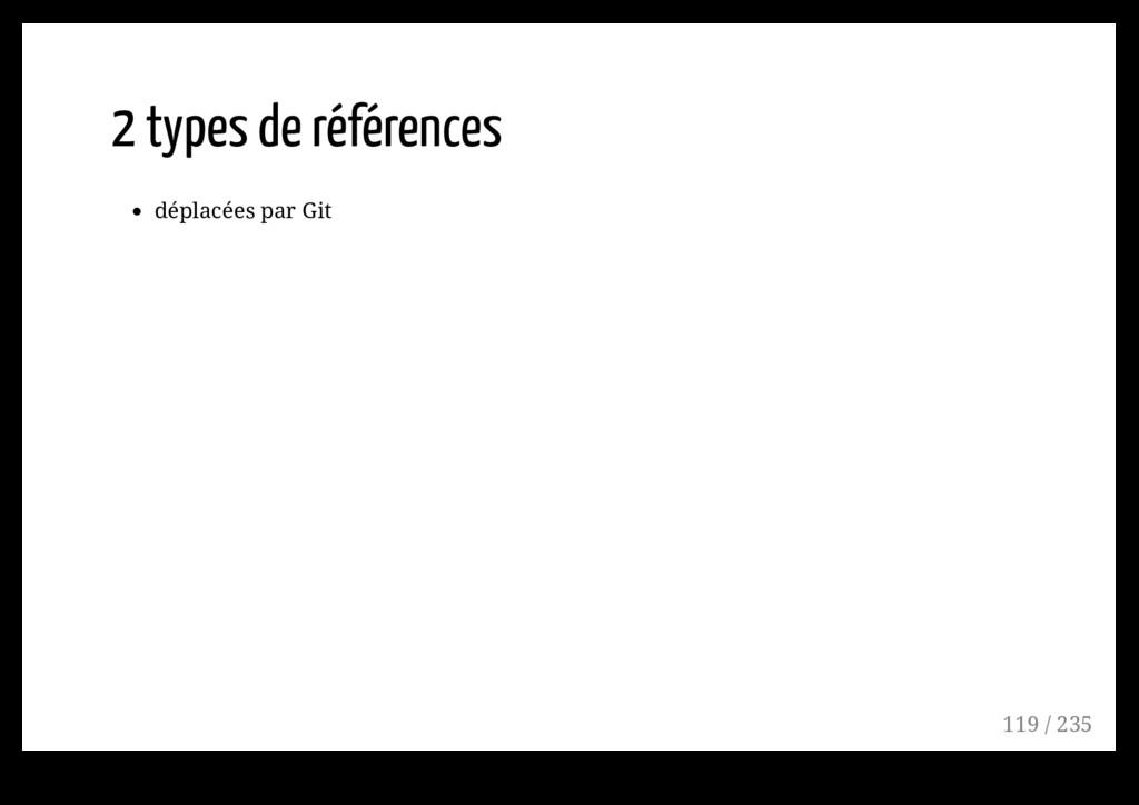 2 types de références déplacées par Git 119 / 2...