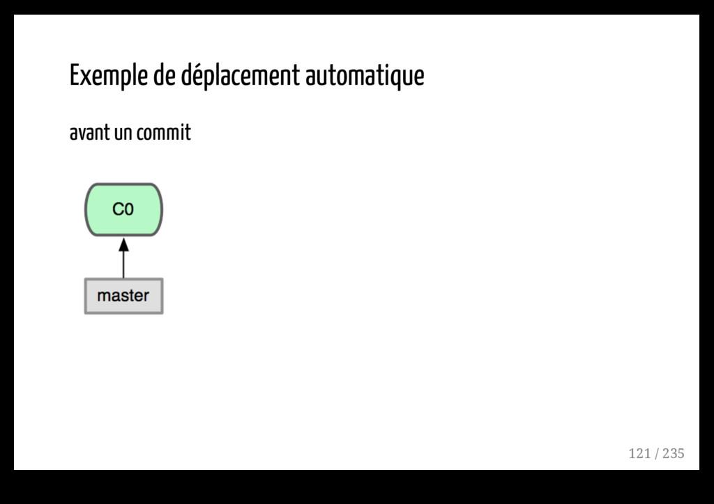 Exemple de déplacement automatique avant un com...