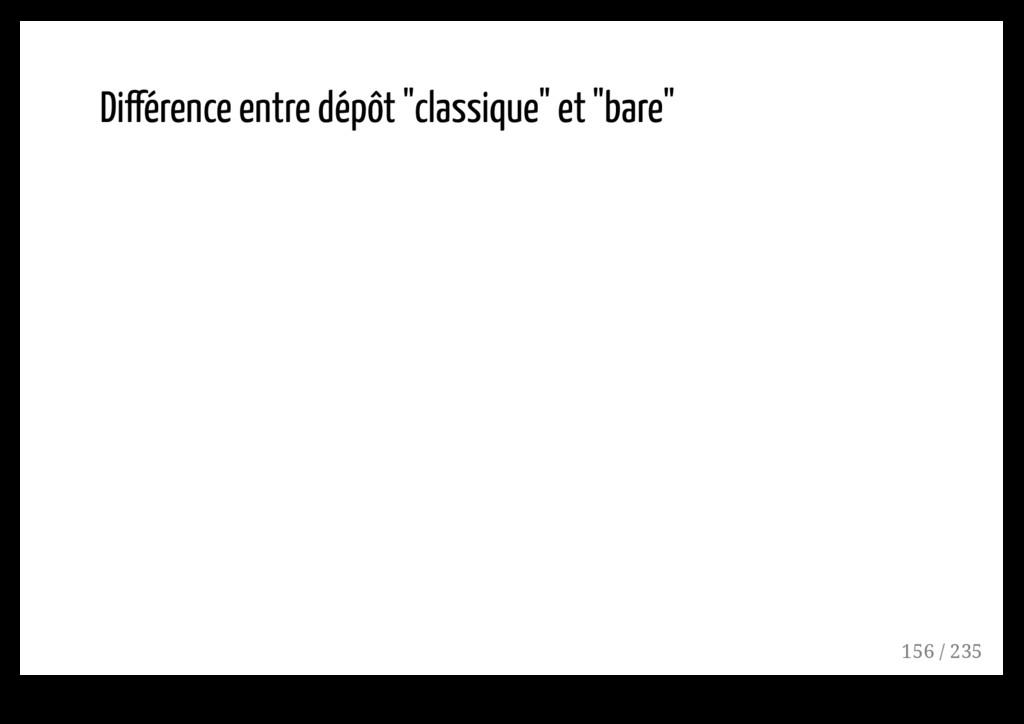 """Différence entre dépôt """"classique"""" et """"bare"""" 15..."""