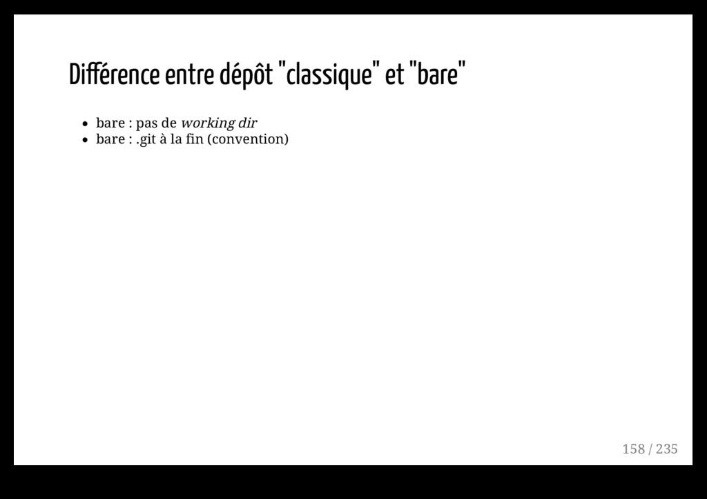 """Différence entre dépôt """"classique"""" et """"bare"""" ba..."""
