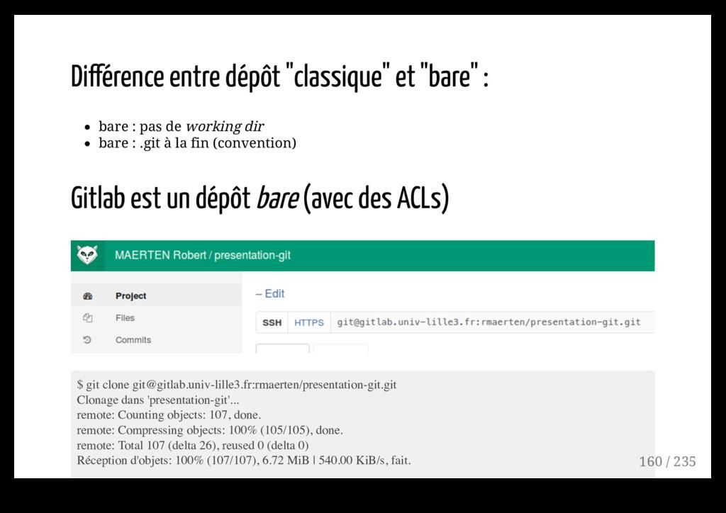 """Différence entre dépôt """"classique"""" et """"bare"""" : ..."""