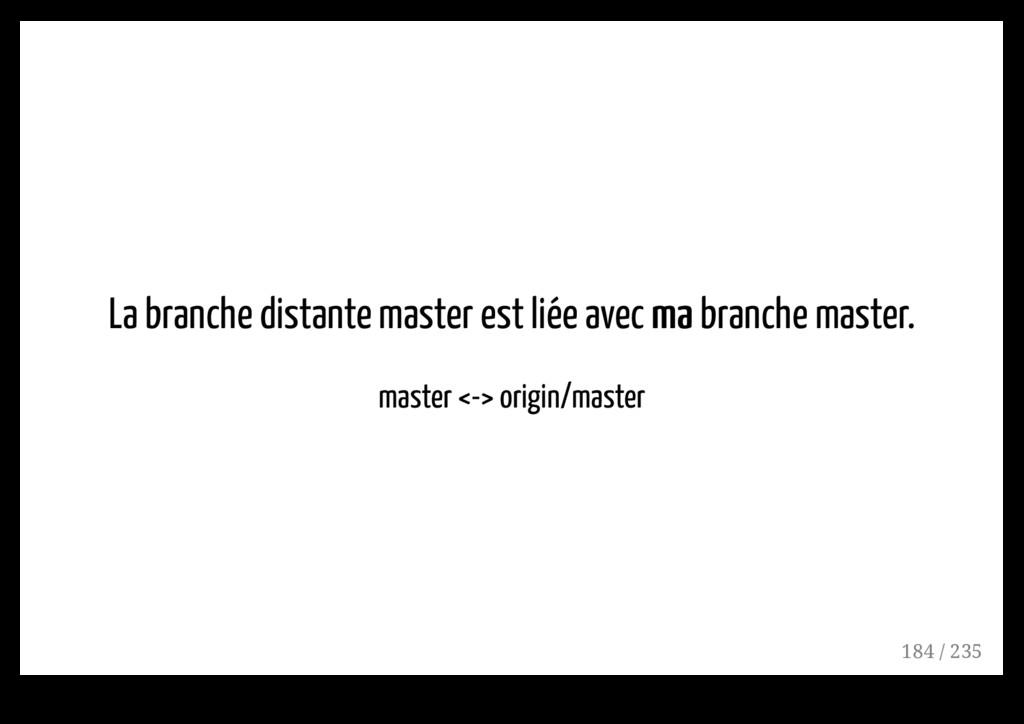 La branche distante master est liée avec ma ma ...
