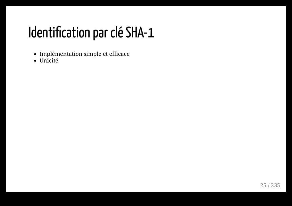 Identification par clé SHA-1 Implémentation simp...