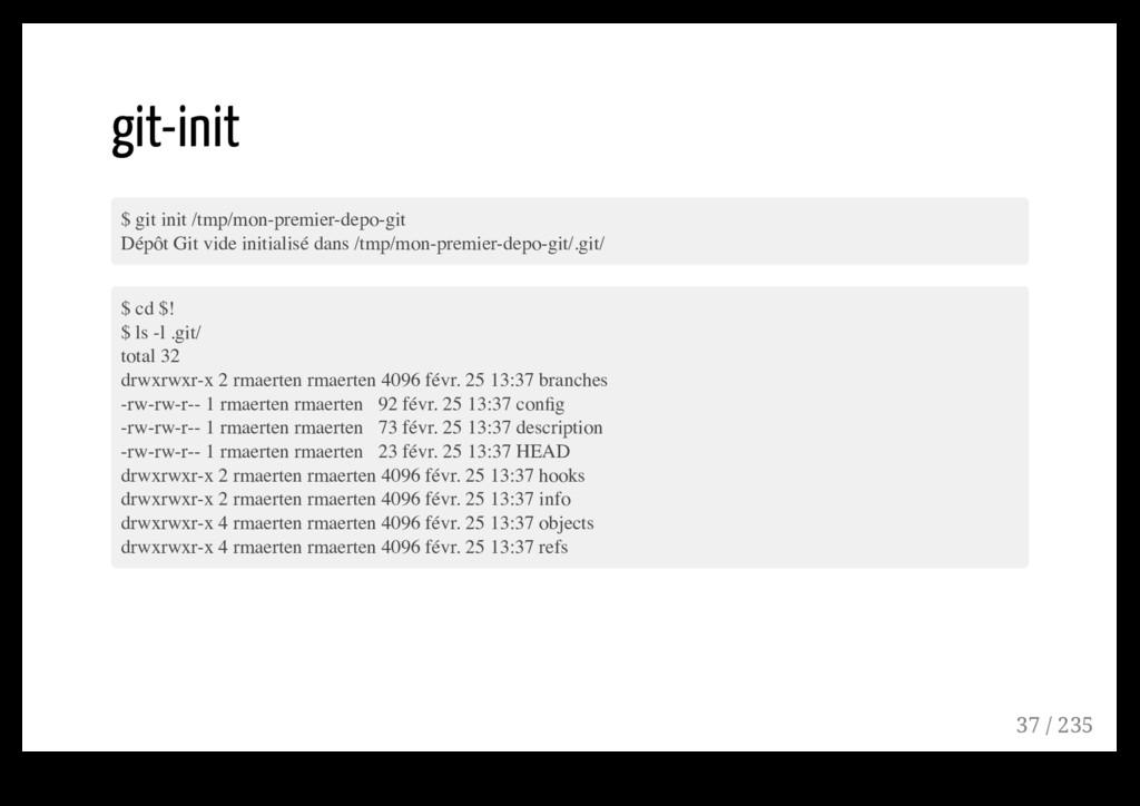git-init $ git init /tmp/mon-premier-depo-git D...