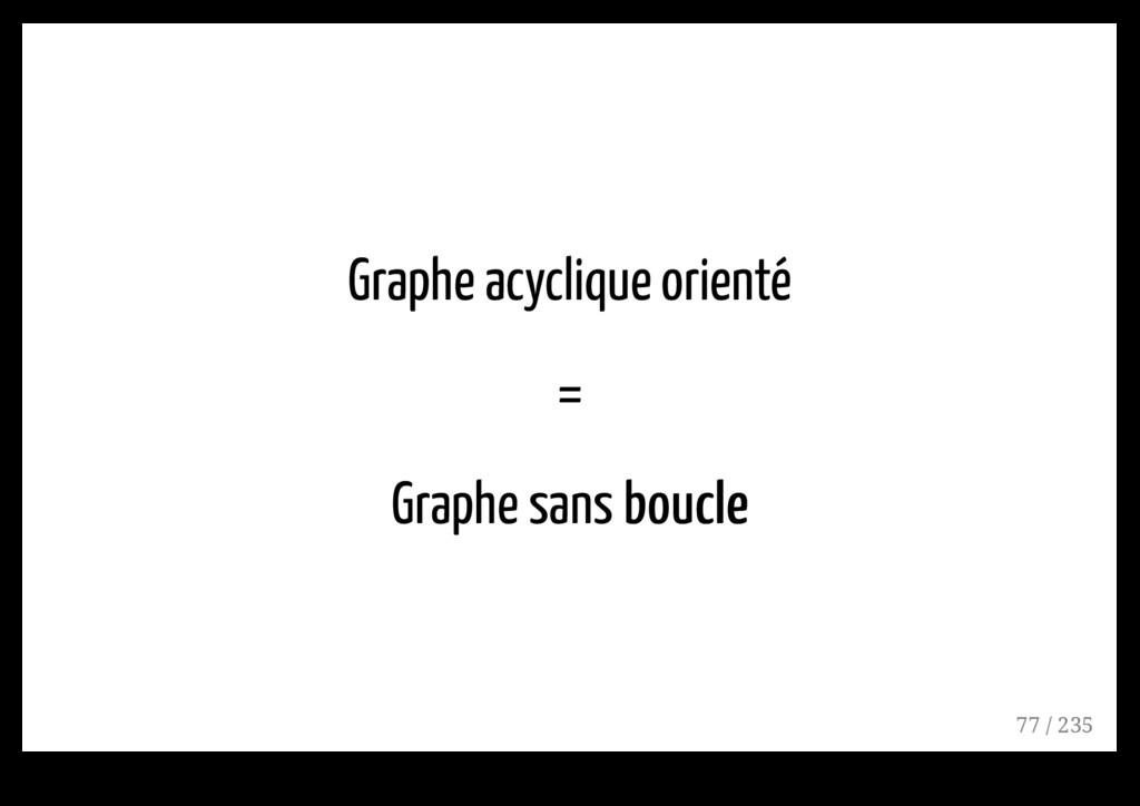 Graphe acyclique orienté = Graphe sans boucle b...