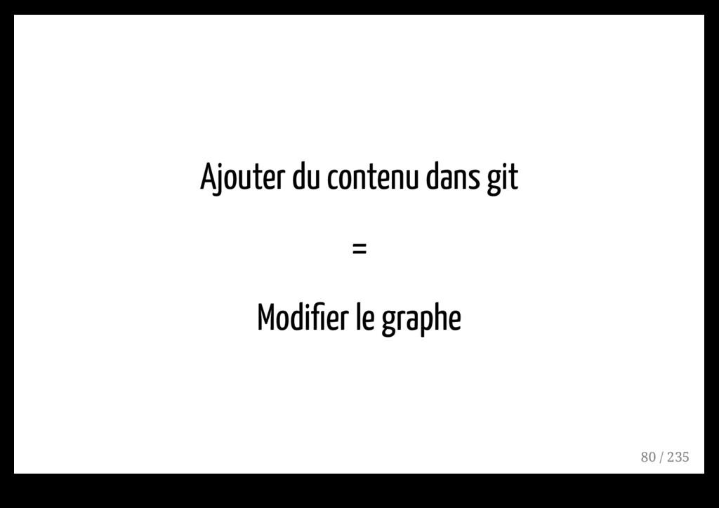 Ajouter du contenu dans git = Modifier le graphe...