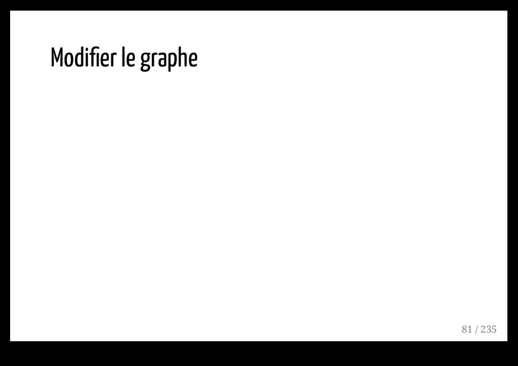 Modifier le graphe 81 / 235