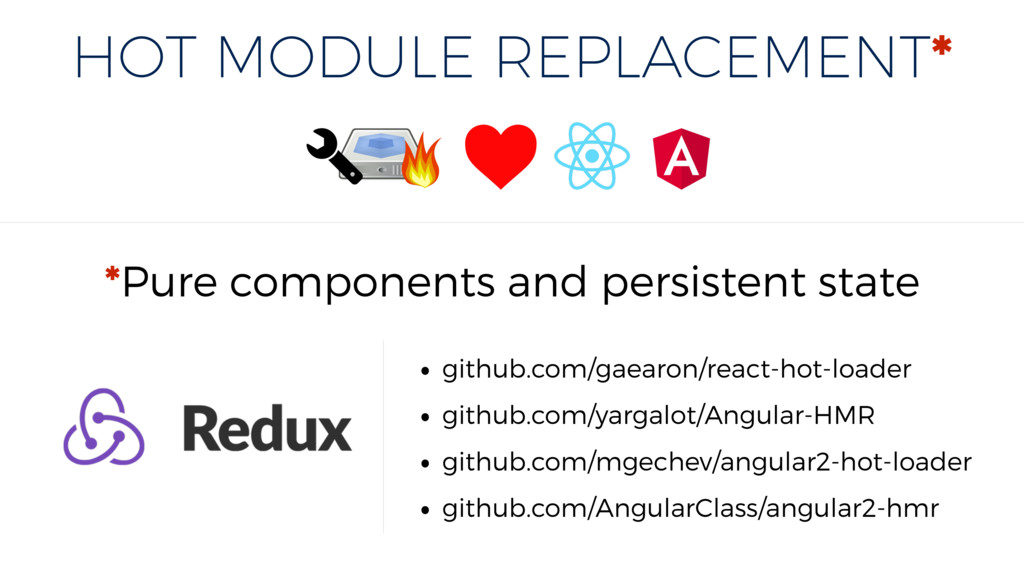 HOT MODULE REPLACEMENT* *Pure components and pe...