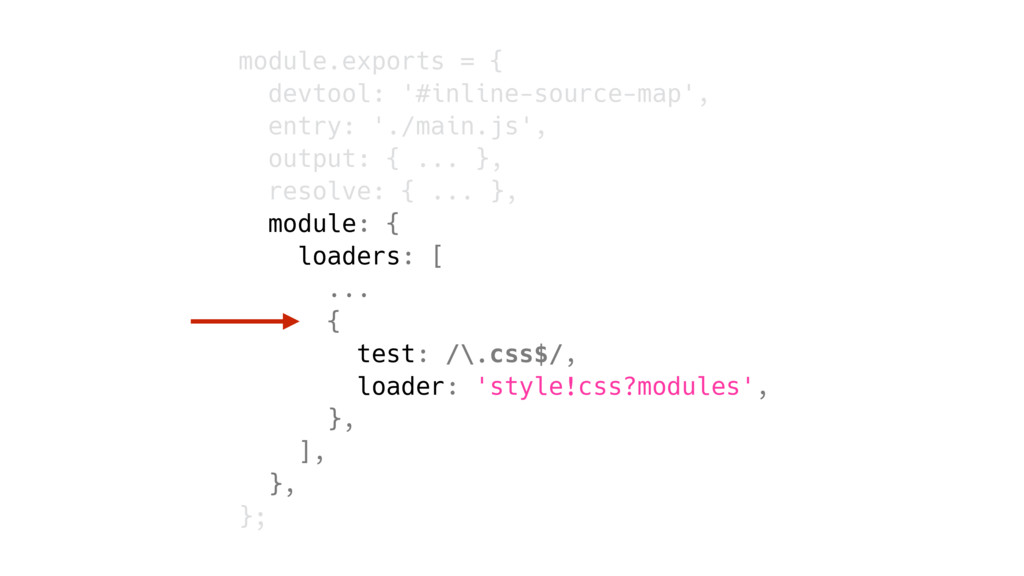 module.exports = { devtool: '#inline-source-map...
