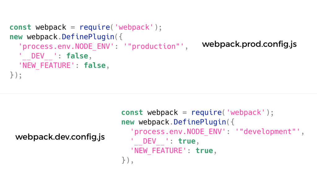 const webpack = require('webpack'); new webpack...