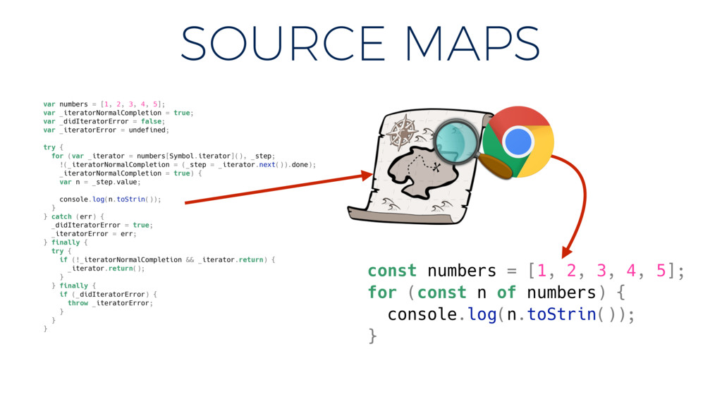 SOURCE MAPS var numbers = [1, 2, 3, 4, 5]; var ...