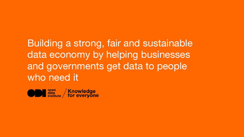 Building a strong, fair and sustainable data ec...