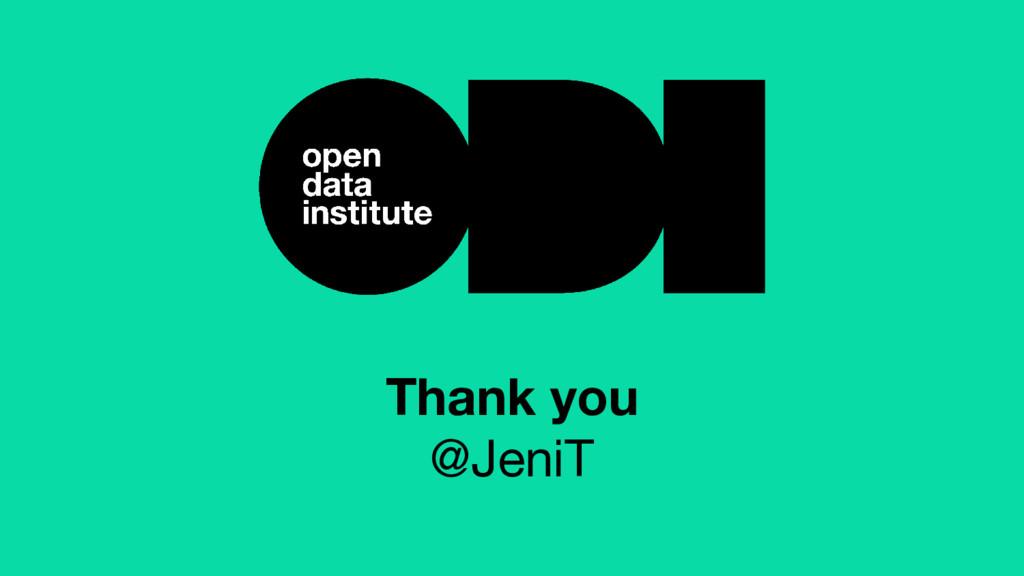 Thank you @JeniT