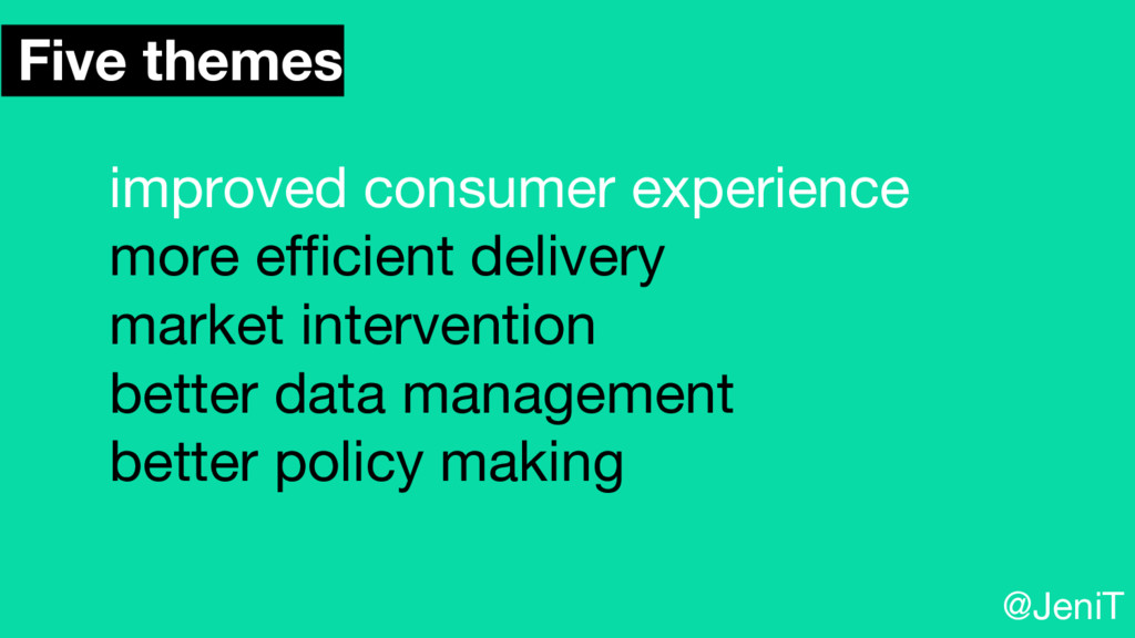 Five themes improved consumer experience more e...