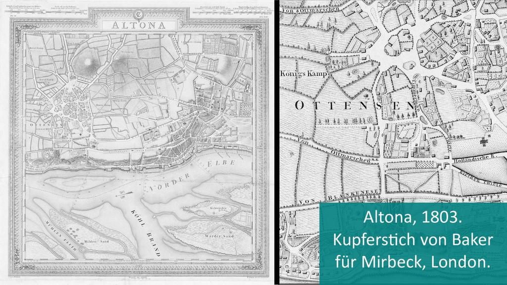 Altona, 1803. Kupferstich von Baker für Mirbeck...