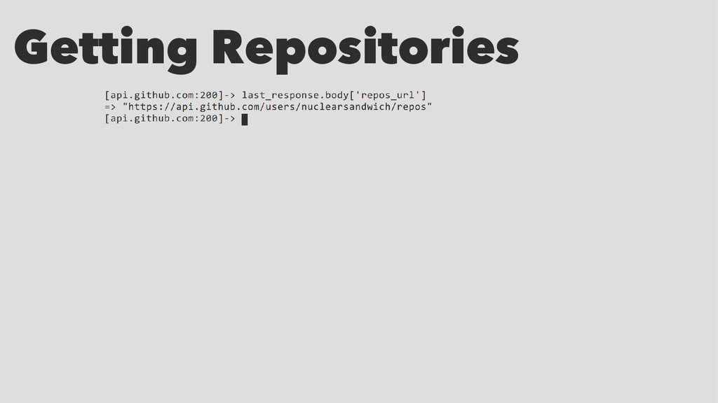 Getting Repositories