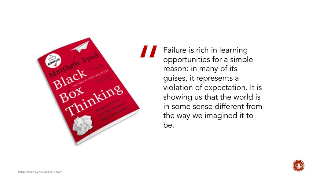 Failure is rich in learning opportunities for a...