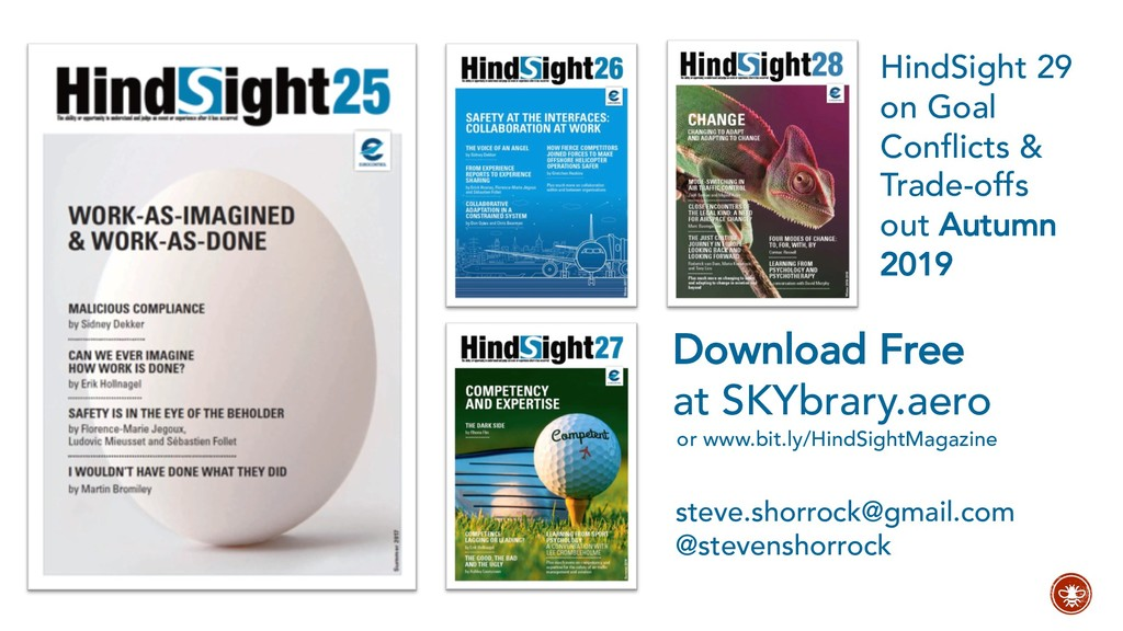 or www.bit.ly/HindSightMagazine steve.shorrock@...