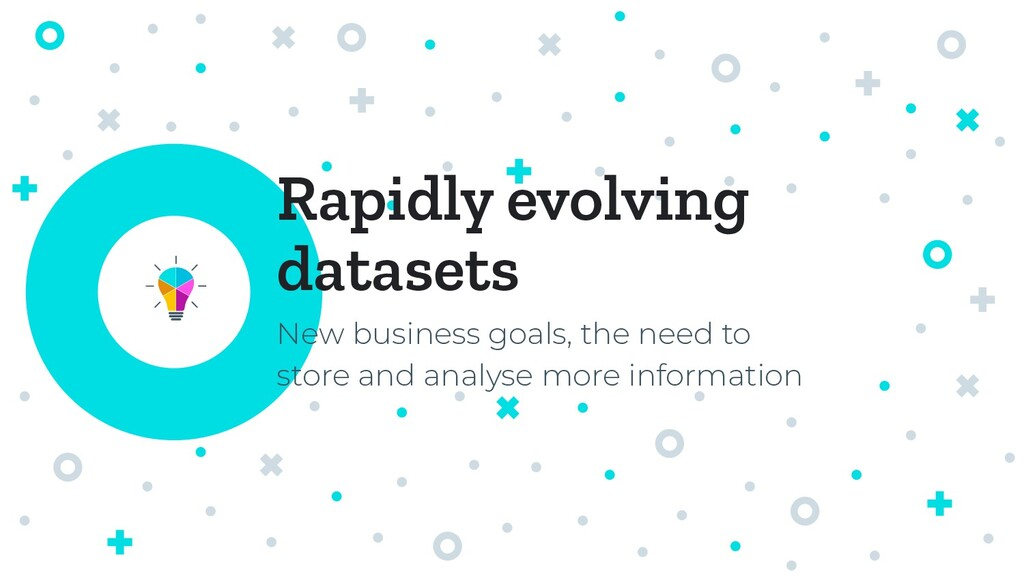Rapidly evolving datasets New business goals, t...