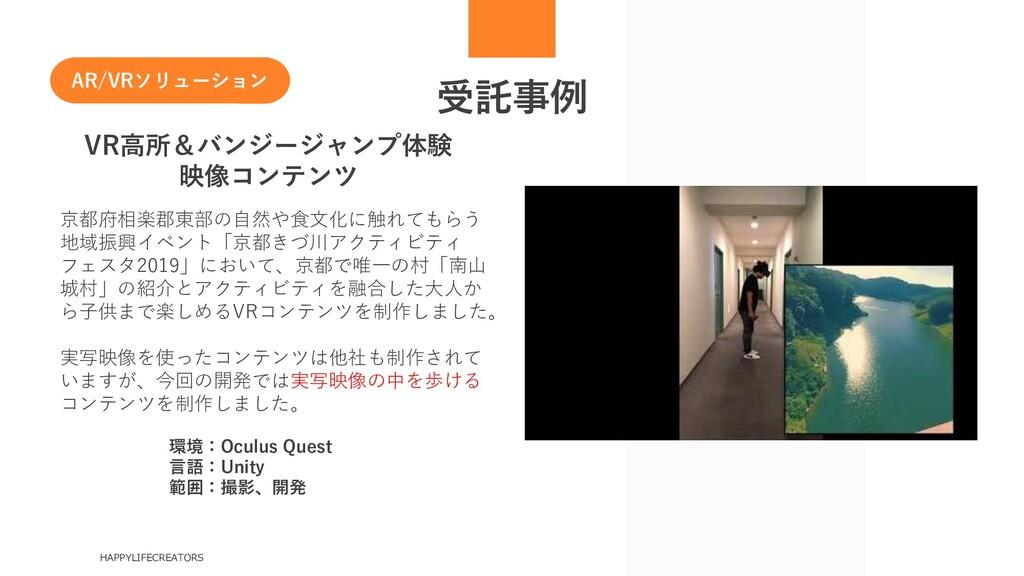 受託事例 HAPPYLIFECREATORS VR高所&バンジージャンプ体験 映像コンテンツ ...