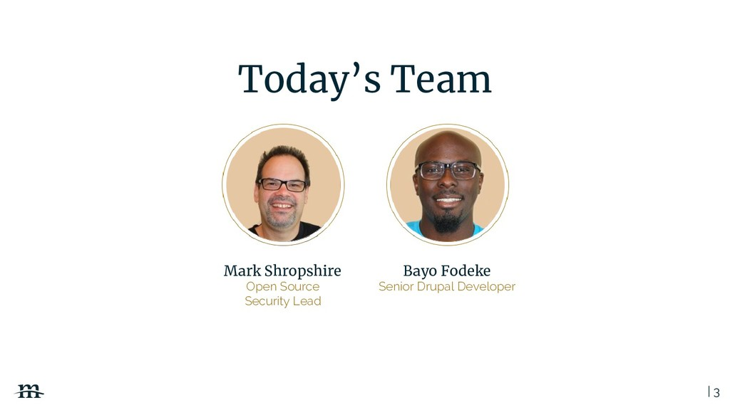 | 3 Today's Team Mark Shropshire Open Source Se...