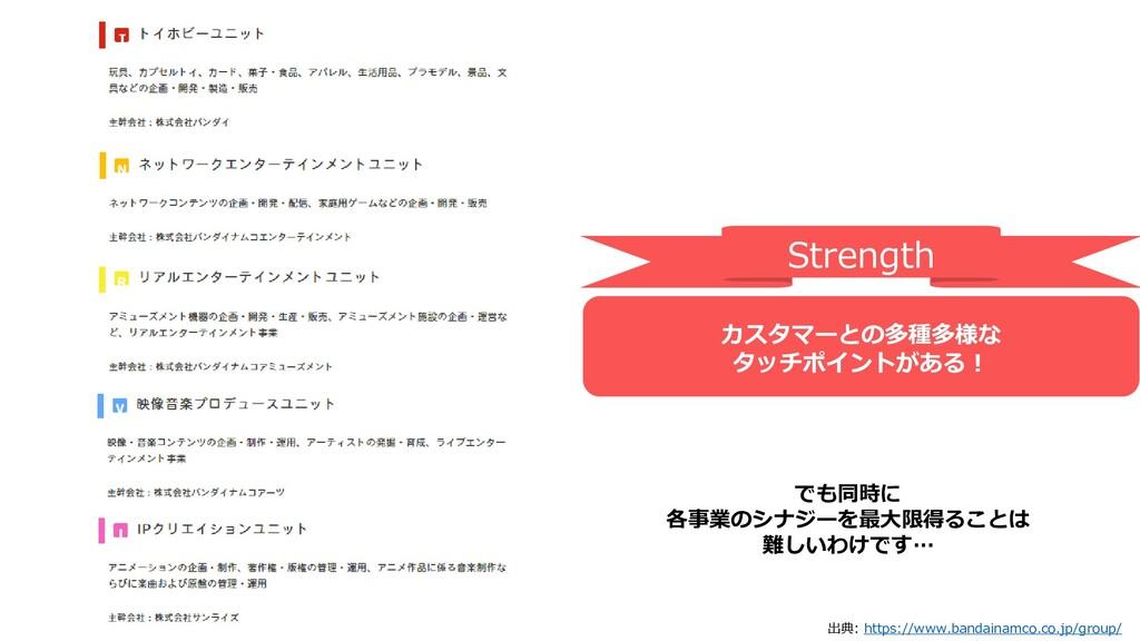 出典: https://www.bandainamco.co.jp/group/ でも同時に ...