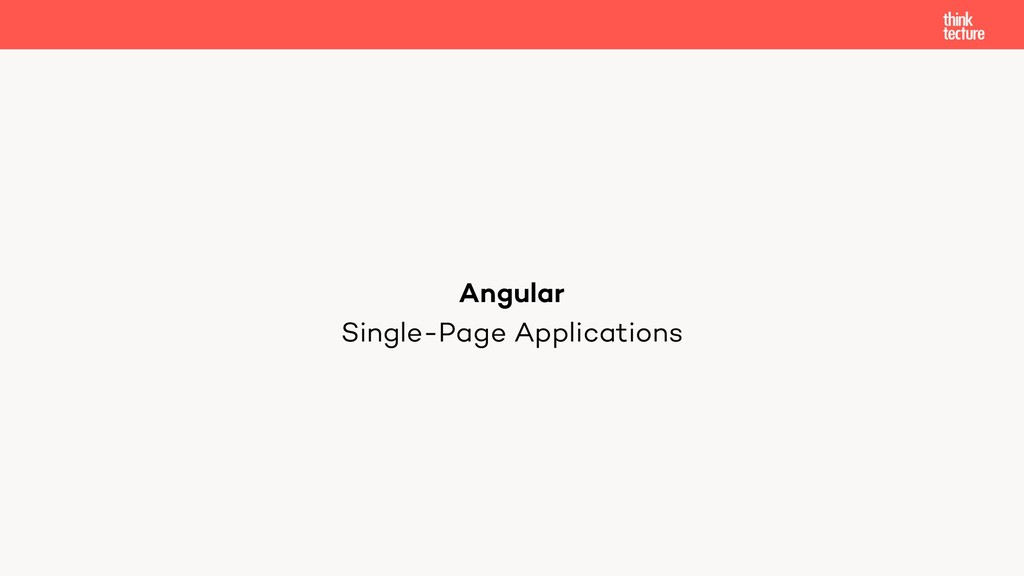 Single-Page Applications Angular