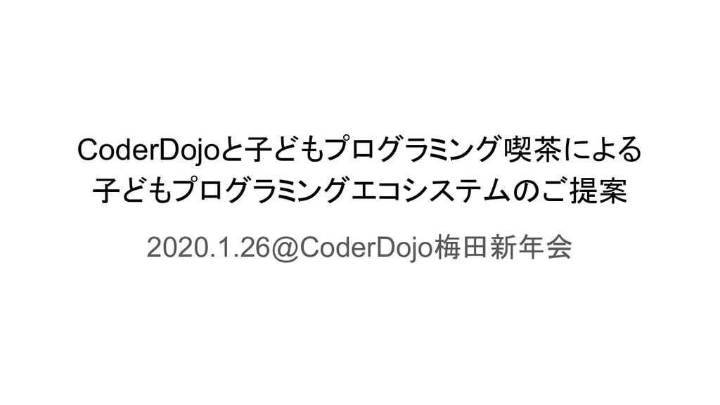 CoderDojoと子どもプログラミング喫茶による 子どもプログラミングエコシステムのご提案 ...