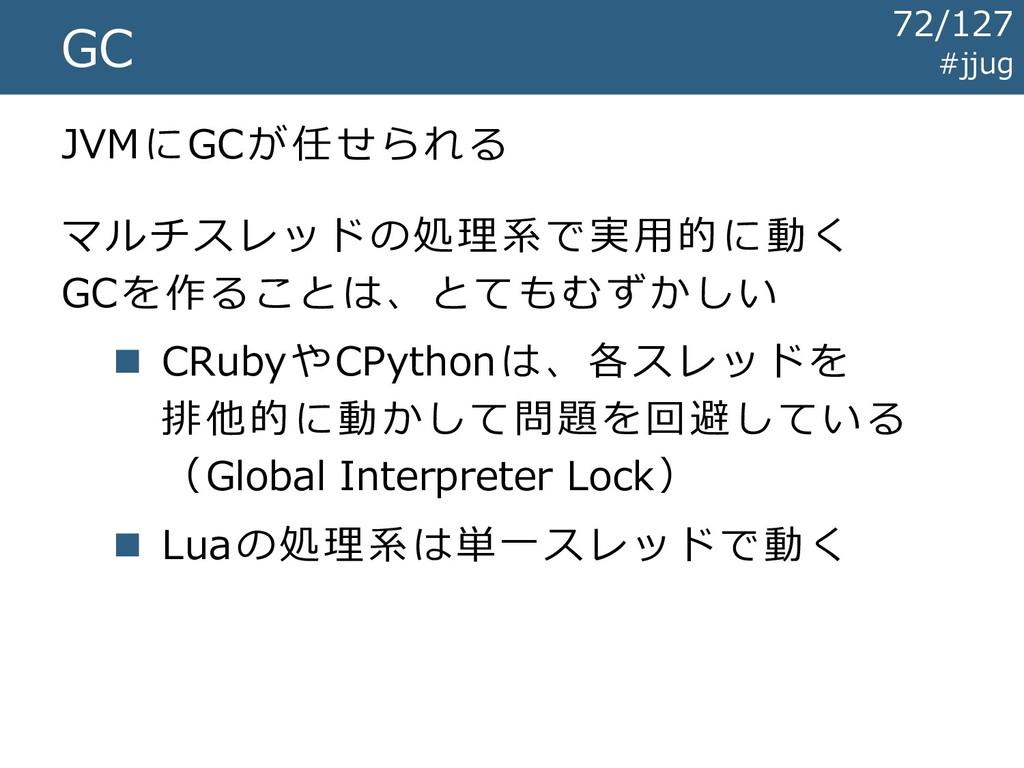 #jjug GC JVMにGCが任せられる マルチスレッドの処理系で実用的に動く GCを作るこ...