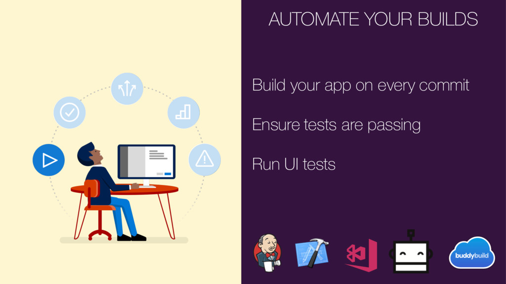 AUTOMATE YOUR BUILDS Build your app on every co...