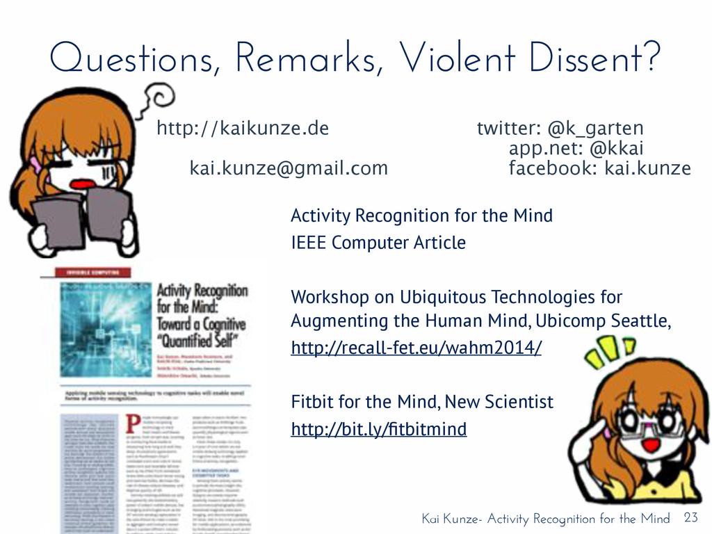Kai Kunze- Activity Recognition for the Mind Qu...