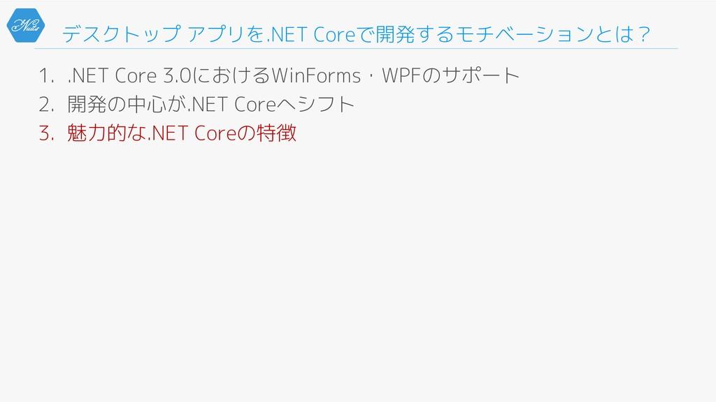 デスクトップ アプリを.NET Coreで開発するモチベーションとは? 1. .NET Cor...